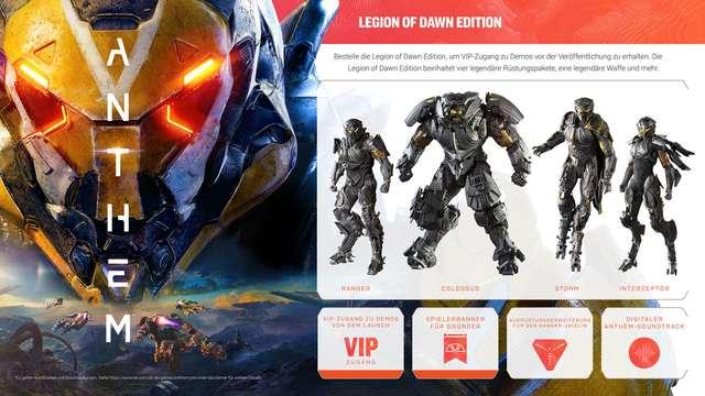 """Gewinnspiel – Wir verlosen eine """"Anthem – Legion of Dawn""""-Edition zum Release"""